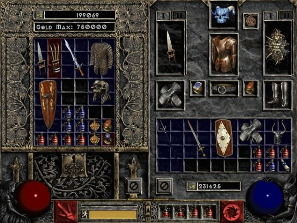 Diablo 2 inventory screenshot